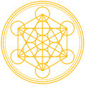 Metatron Cube Gold Royalty Free Stock Photo