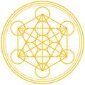Metatron Cube Gold