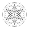 Metatrons Cube. Sacred geometry illustration