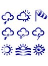 Meteo Icons Stock Photos