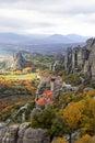 Meteorów monastery w Grecja i skały Zdjęcia Royalty Free