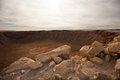 Meteor crater arizona barringer in the afternoon Stock Image