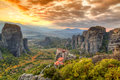 Meteora greece is one of the largest and most important complexes of eastern orthodox monasteries in Stock Photography