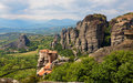 Meteora Monasteries Stock Photo
