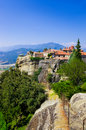 Meteora monastery in Greece Stock Images