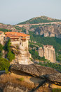 Meteora and Monastery of Varlaam Stock Photos