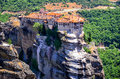 Metéora mountains of in greece Royalty Free Stock Images