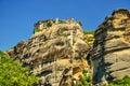 Metéora mountains of in greece Stock Photos