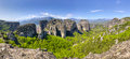 Meteora panorama, Thessaly, Greece Royalty Free Stock Images