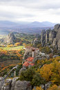 Meteora Rocks and Monasteries in Greece Royalty Free Stock Photos