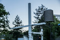Meteorological Instrument for weather`s calculating at Meteorological station in Belgrade Royalty Free Stock Photo