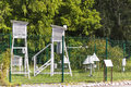 Meteorological station weather in a botanical garden in krakow Stock Photography