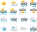 Meteorology Weather Icons Royalty Free Stock Image