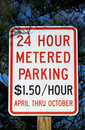 Metered Parking Sign Royalty Free Stock Images