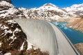 2000 meters above sea dam Royalty Free Stock Photo