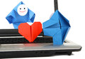 Metáfora de la E-comunicación y del comercio electrónico Imágenes de archivo libres de regalías