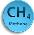 Methane blue button with element eps Stock Image