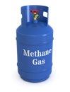 Methane gas cylinder Royalty Free Stock Photo