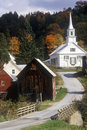 Methodist Church in Waits River, VT in autumn Royalty Free Stock Photo