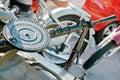 Metralhadora montada no side car Imagem de Stock