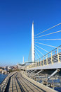 Metro bridge in golden horn in istanbul brand new Royalty Free Stock Image