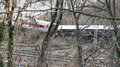 Metro north train derailment in the bronx new york december a derails killing and injuring people near spuyten duyvil station Royalty Free Stock Photo
