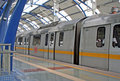 Metro Railway Transit  New Delhi India Royalty Free Stock Photo