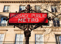 Metro Sign, Paris Royalty Free Stock Photo