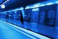Metro station blueprint Royalty Free Stock Photo