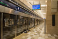 Metro station in dubai the new platform indication clock and luxury Stock Images