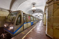 Metro station Komsomolskaya in the center of Moscow, Russia