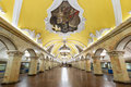 The metro station komsomolskaya in moscow russia may at night on may is a great monument of Royalty Free Stock Photos