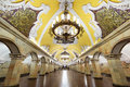 The metro station Komsomolskaya in Moscow, Russia Royalty Free Stock Photo