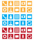 Metro style geometric icon design vector file Royalty Free Stock Photo
