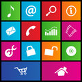 Metro style web icons 2 Stock Photo