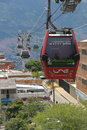 Metrocable in medellin metracable tramway used as public transport colombia Royalty Free Stock Photo