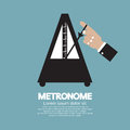 Metronome for music practicing vector illustration Royalty Free Stock Photography