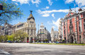 Metropolis building and grassy building madrid spain may edificio edificio famous beaux arts style of Stock Photo