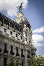 Metropolis building image of the city of madrid its characteri characteristic architecture spanish art Royalty Free Stock Images