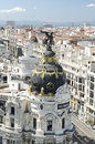 Metropolis building in madrid on may aerial view of this was built is a famous landmark Stock Photo