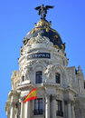 Metropolis Building in Madrid - Spain Royalty Free Stock Image