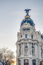 Metropolis building at Madrid, Spain Royalty Free Stock Photos