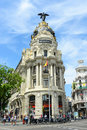 Metropolis building madrid spain spanish edificio metrópolis is one of the most famous beaux arts style landmark of city of it Stock Photos
