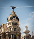 Metropolis the in downtown madrid in spain Stock Photo
