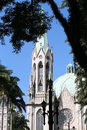 Metropolitan cathedral or se cathedral in sao paulo brazil of one of the five largest neo gothic temples the world sp Stock Photos