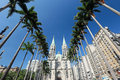 Metropolitan cathedral or se cathedral in sao paulo brazil of one of the five largest neo gothic temples the world sp Royalty Free Stock Photo