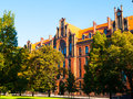 Metropolitan seminary and papal faculty of theology in wroclaw neogothic building on cathedral square poland Stock Images