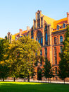 Metropolitan seminary and papal faculty of theology in wroclaw neogothic building on cathedral square poland Stock Photography