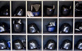 Mets basball helmets Royalty Free Stock Photo