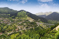 Metsovo tourist resort and mountains at a summer, Greece Royalty Free Stock Photo